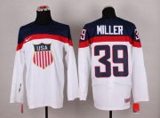 Wholesale Cheap 2014 Olympic Team USA #39 Ryan Miller White Stitched NHL Jersey