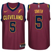 Wholesale Cheap Nike NBA Cleveland Cavaliers #5 J.R. Smith Jersey 2017-18 New Season Wine Red Jersey