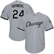 Wholesale Cheap White Sox #24 Yasmani Grandal Grey New Cool Base Stitched Youth MLB Jersey