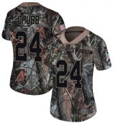Wholesale Cheap Nike Browns #24 Nick Chubb Camo Women's Stitched NFL Limited Rush Realtree Jersey