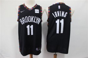 Wholesale Cheap Nets 11 Kyrie Irving Black City Edition Nike Swingman Jersey