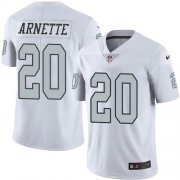 Wholesale Cheap Nike Raiders #20 Damon Arnette White Men's Stitched NFL Limited Rush Jersey