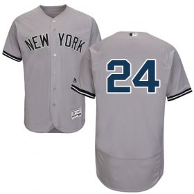 Wholesale Cheap Yankees #24 Gary Sanchez Grey Flexbase Authentic Collection Stitched MLB Jersey