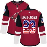 Wholesale Cheap Adidas Coyotes #23 Oliver Ekman-Larsson Maroon Home Authentic USA Flag Women's Stitched NHL Jersey