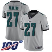 Wholesale Cheap Nike Eagles #27 Malcolm Jenkins Silver Men's Stitched NFL Limited Inverted Legend 100th Season Jersey