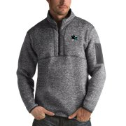 Wholesale Cheap San Jose Sharks Antigua Fortune Quarter-Zip Pullover Jacket Black
