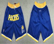 Wholesale Cheap Men's Indiana Pacers Blue Just Don Shorts Swingman Shorts
