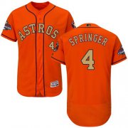 Wholesale Cheap Astros #4 George Springer Orange FlexBase Authentic 2018 Gold Program Cool Base Stitched MLB Jersey