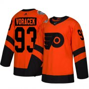 Wholesale Cheap Adidas Flyers #93 Jakub Voracek Orange Authentic 2019 Stadium Series Women's Stitched NHL Jersey