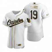 Wholesale Cheap Baltimore Orioles #19 Chris Davis White Nike Men's Authentic Golden Edition MLB Jersey