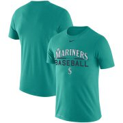 Wholesale Cheap Seattle Mariners Nike Practice Performance T-Shirt Aqua