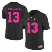 Wholesale Cheap Alabama Crimson Tide 13 Tua Tagovailoa Black 2017 Breast Cancer Awareness College Football Jersey