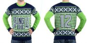 Wholesale Cheap Nike Seahawks #12 Fan Men's Ugly Sweater