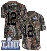Wholesale Cheap Nike Patriots #12 Tom Brady Camo Super Bowl LIII Bound Youth Stitched NFL Limited Rush Realtree Jersey