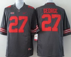 Wholesale Cheap Ohio State Buckeyes #27 Eddie George 2014 Gray Limited Jersey
