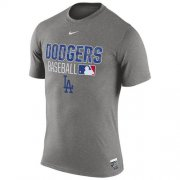 Wholesale Cheap Los Angeles Dodgers Nike 2016 AC Legend Team Issue 1.6 T-Shirt Gray