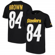Wholesale Cheap Nike Pittsburgh Steelers #84 Antonio Brown Youth Player Pride 3.0 Name & Number T-Shirt Black