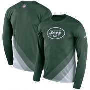 Wholesale Cheap Men's New York Jets Nike Green Sideline Legend Prism Performance Long Sleeve T-Shirt