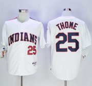 Wholesale Cheap Indians #25 Jim Thome White 1978 Turn Back The Clock Stitched MLB Jersey