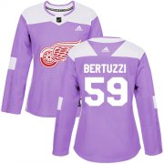 Wholesale Cheap Adidas Red Wings #59 Tyler Bertuzzi Purple Authentic Fights Cancer Women's Stitched NHL Jersey