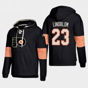 Wholesale Cheap Philadelphia Flyers #23 Oskar Lindblom Black adidas Lace-Up Pullover Hoodie