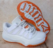Wholesale Cheap Kids Air Jordan 11 Citrus White/Orange