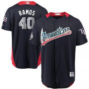 Wholesale Cheap Rays #40 Wilson Ramos Navy Blue 2018 All-Star American League Stitched MLB Jersey