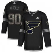 Wholesale Cheap Adidas Blues #90 Ryan O'Reilly Black Authentic Classic Stitched NHL Jersey