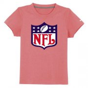 Wholesale Cheap NFL Logo Youth T-Shirt Pink