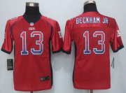 Wholesale Cheap Nike Giants #13 Odell Beckham Jr Red Alternate Youth Stitched NFL Elite Drift Fashion Jersey