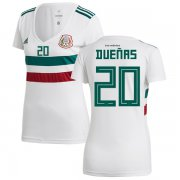 Wholesale Cheap Women's Mexico #20 Duenas Away Soccer Country Jersey