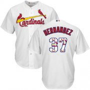 Wholesale Cheap Cardinals #37 Keith Hernandez White Team Logo Fashion Stitched MLB Jersey