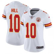 Wholesale Cheap Nike Chiefs #10 Tyreek Hill White Women's Stitched NFL Vapor Untouchable Limited Jersey