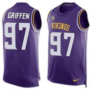 Wholesale Cheap Nike Vikings #97 Everson Griffen Purple Team Color Men's Stitched NFL Limited Tank Top Jersey