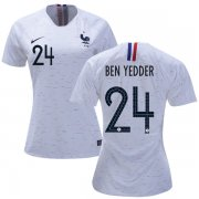 Wholesale Cheap Women's France #24 Ben Yedder Away Soccer Country Jersey