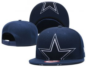 Wholesale Cheap NFL Dallas Cowboys Half Logo Navy Snapback Adjustable Hat GS14