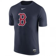 Wholesale Cheap Boston Red Sox Nike Authentic Collection Legend Logo 1.5 Performance T-Shirt Navy