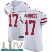 Wholesale Cheap Nike 49ers #17 Emmanuel Sanders White Super Bowl LIV 2020 Men's Stitched NFL Vapor Untouchable Elite Jersey