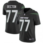 Wholesale Cheap Nike Jets #77 Mekhi Becton Black Alternate Youth Stitched NFL Vapor Untouchable Limited Jersey