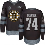 Wholesale Cheap Adidas Bruins #74 Jake DeBrusk Black 1917-2017 100th Anniversary Stanley Cup Final Bound Stitched NHL Jersey