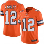 Wholesale Cheap Nike Broncos #12 Brendan Langley Orange Men's Stitched NFL Limited Rush Jersey