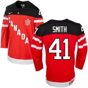 Wholesale Cheap Olympic CA. #41 Mike Smith Red 100th Anniversary Stitched NHL Jersey