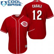 Wholesale Cheap Reds #12 Curt Casali Red New Cool Base Stitched Youth MLB Jersey