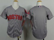 Wholesale Cheap Red Sox Blank Grey Cool Base Stitched Youth MLB Jersey