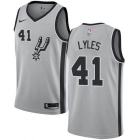 Wholesale Cheap Nike Spurs #41 Trey Lyles Silver NBA Swingman Statement Edition Jersey