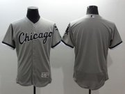 Wholesale Cheap White Sox Blank Grey Flexbase Authentic Collection Stitched MLB Jersey