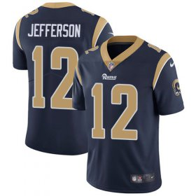 Wholesale Cheap Nike Rams #12 Van Jefferson Navy Blue Team Color Men\'s Stitched NFL Vapor Untouchable Limited Jersey