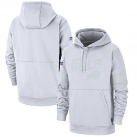 Wholesale Cheap Buffalo Bills Nike NFL 100 2019 Sideline Platinum Therma Pullover Hoodie White