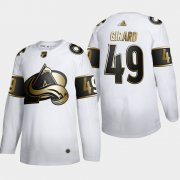Wholesale Cheap Colorado Avalanche #49 Samuel Girard Men's Adidas White Golden Edition Limited Stitched NHL Jersey