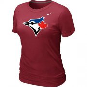 Wholesale Cheap Women's Nike Toronto Blue Jays Authentic Logo T-Shirt Red